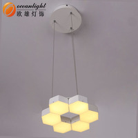 Lamparas modernas pendant led acrylic wholesale chandelier crystal prisms OXD9955-1DW