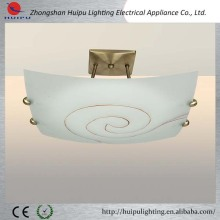 2014 New Design High Quality Flat Glass Ceiling Lamp