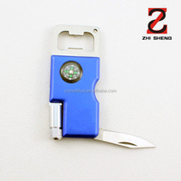 ZS-TB008 multifunctional bottle opener, folding knife, multifunctional keyring tool