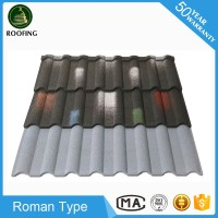 Professional Roman roof shingle colors,color stone coated steel roof tile made in China