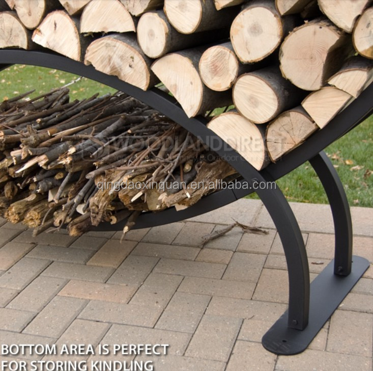 u shape firewood rack
