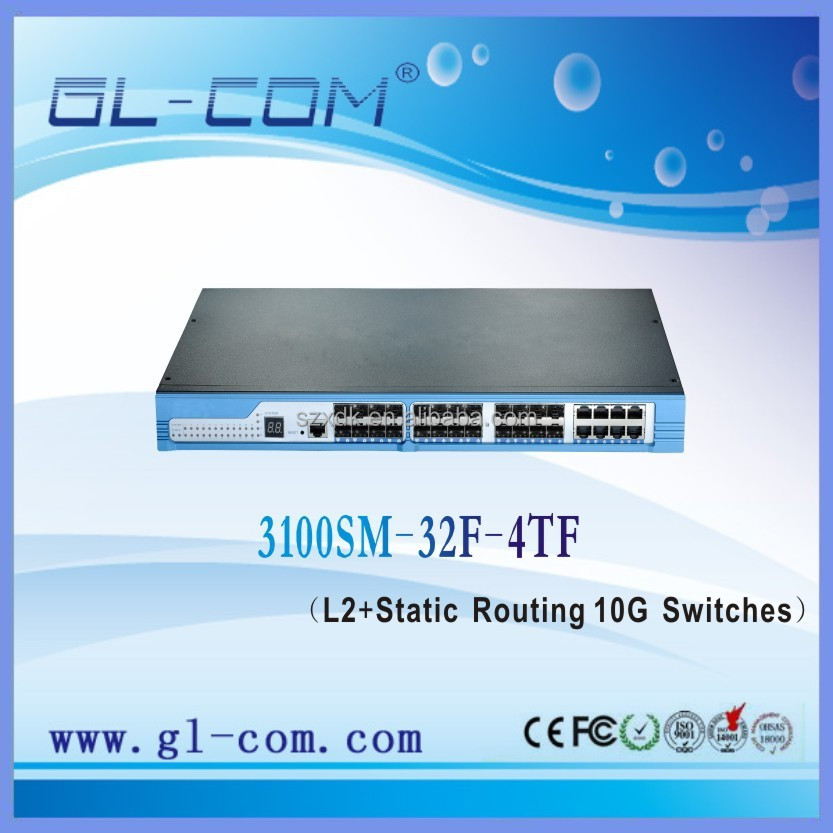 10ge switch L2 L3 Fiber Switch with 24GE XSFP and 8GE combo Ethernet Switch