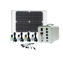 Guang dong new product 20w solar battery and led lantern solar power generator kit for indoor