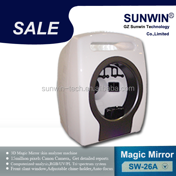 3D portable magic face skin analysis beauty device with English and Spanish version software