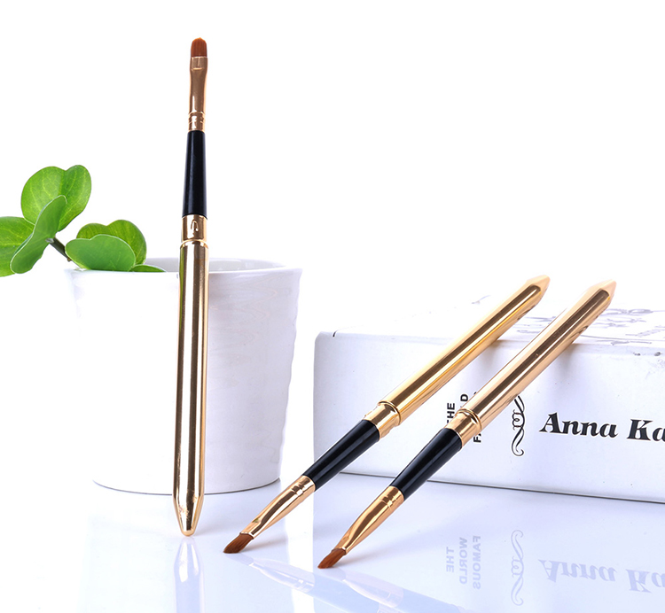 High quality professional private label makeup brush retractable brush make up for lip
