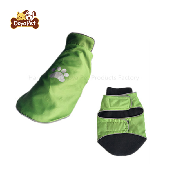 Best selling easy use green dog raincoat