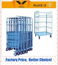 plastic base roll container,laundry roll container, roll container with CE