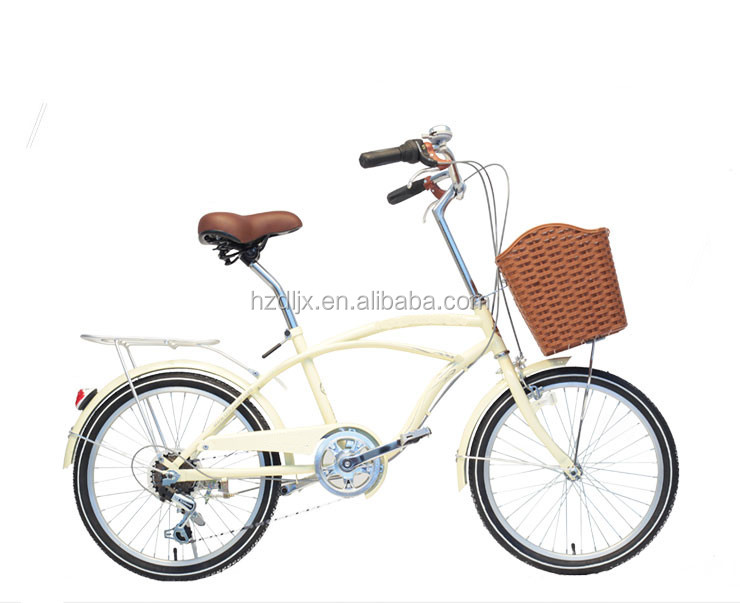 20 inch 6 speed steel beach cruiser bicycle