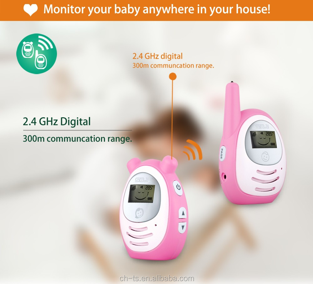 lcd wireless baby phone digital audio baby monitor