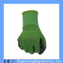 Bamboo Work Gardening Gloves Protective Second Skin Polyurethane Coated Working Gloves