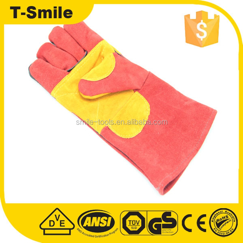 Winter work insulated shock resistant mens cheap leather gloves