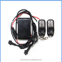 50W 15 color changing modes RGB universal remote controller for motorcycle&car led strips, 4-Key remote