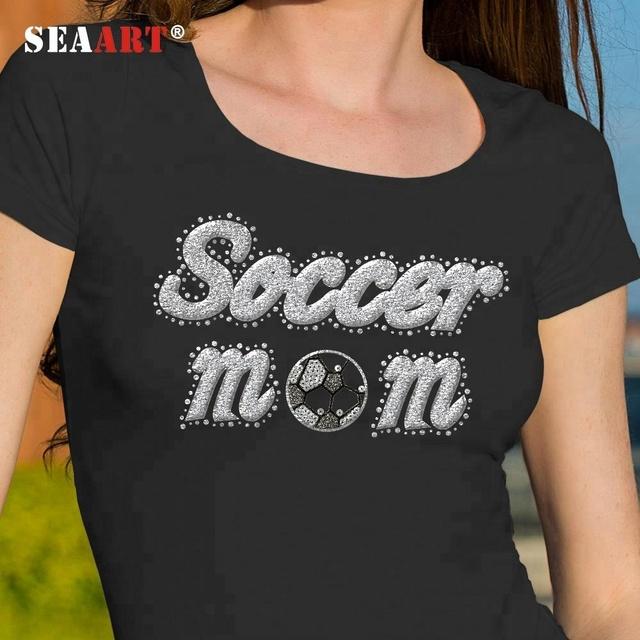 Letter Soccer Mom Rhinestone Hotfix Motif Templates