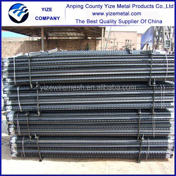red t fence post galvanized steel fence T post cap