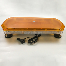 23.5 inch 12V 24V 56W LED vehicle top roof magnetic used amber warning light bar for truck car