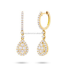 Dancing 1.20 18k gold princess cut wedding sets canary yellow diamond birthstone jewelry for mom monogram earring morganite