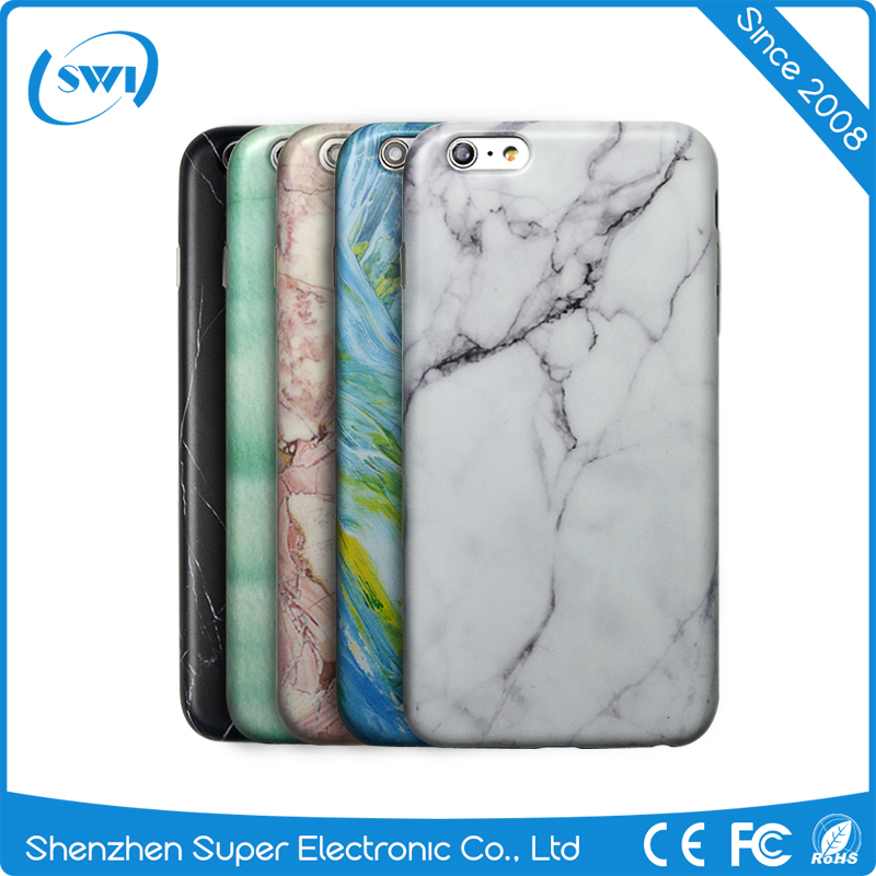IML Gel Marble Vein Pattern Glossy Slim Snap Back Case Cover Bumper for iphone 5S 6S 6s plus