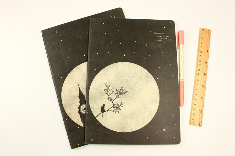 Wholesale Price Sewing Binding 16K Size Black Paper Notebook For Sale