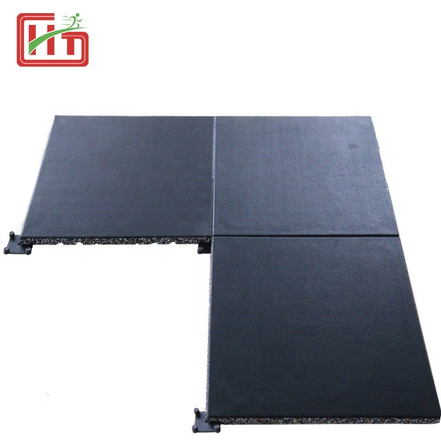 High quality Wear resistant gym floor rubber mat anti slip non-toxic rubber gym flooring