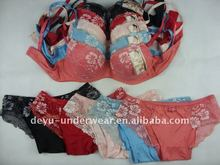 0.9USD China Lowest Available Embroidered Transparent Panties And Bra(kctz004)