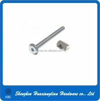 China fastener manufacturer 6Mm M6 X 100Mm Furniture Cot Allen Head Bed Bolt With Barrel Nut Of High Quality