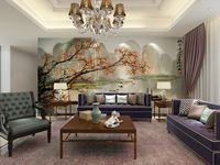 wholesale wallpaper china Eco-friendy 3d mural Chinese landscape for background 3d ceramic tile murals wall decor