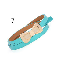 Candy color choice popular width around 1.5cm PU material beautiful decoration lovely fashion leather belt