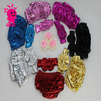 new metallic baby bloomer or baby diaper cover with metallic baby headband