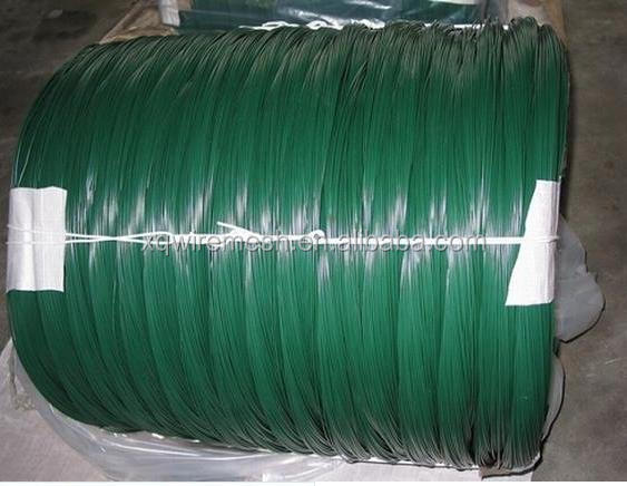 dark green pvc coated iron wire/pvc coated tie wire/pvc coated gi wire