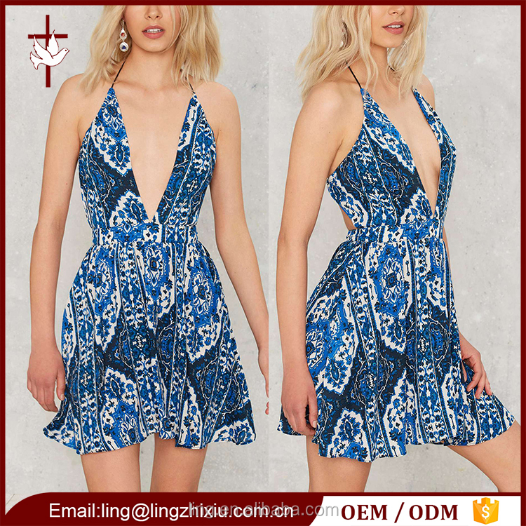International wholesale clothing women mini floral beach wear dress