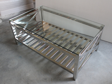 glass coffee table, modern coffee table, stainless steel coffee table
