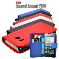 LEATHER WALLET BOOK FLIP CASE COVER FOR HUAWEI ASCEND Y300