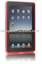 clear red hard durable pc plastic protective shell cover/case for ipad2