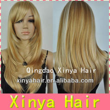 5A virgin Mix streak colors Blonde jewish european human hair wigs