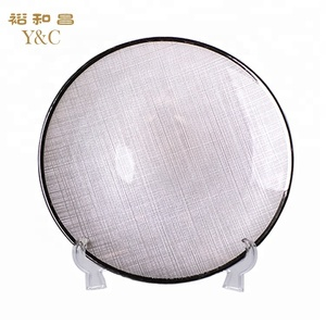 Factory direct 13 inch woven glass charger plates for wedding party
