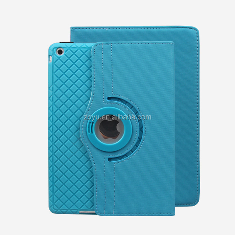 360 degree rotate Ultra thin smart Leather case for ipad mini 123
