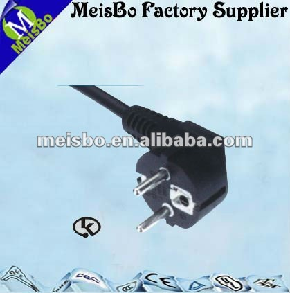 EU Korea standard 250V 60HZ power plug right angle in generla purpose
