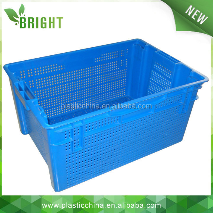 "BX0666 40KG 60liter 24""X16"" size locked plastic box storage with swing lid"