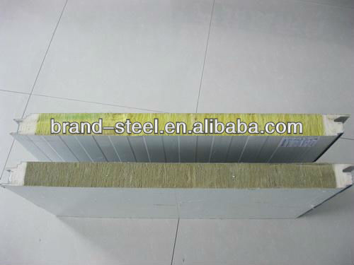 Top Quality Rock Wool fireproof sandwich panel, popular building materials