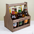 Rustic wooden beer crates/storage cases for beer collections of 6 bottles
