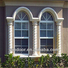 Modern PVC Windows With Grill,High Quality PVC Windows,PVC Sliding Window With Top Arch