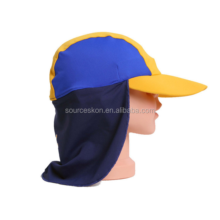 Factory Direct Supply Kids Beach UPF50+ Sunscreen Hat Girls And Boys Sun Protection Swimwear Swimwear Tricolor Hat 0-6Y