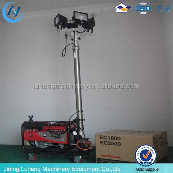 Portable Telescopic Light Tower: Emergency Lighting Portable Gasoline Generator 3m