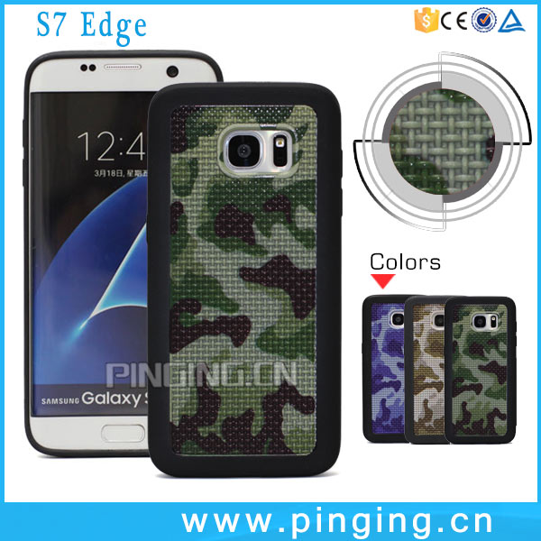 Wholesale Price 3D Army Camouflage Braided Lines Soft TPU Phone Case Shockproof For Samsung Galaxy S7 S7 Edge Case