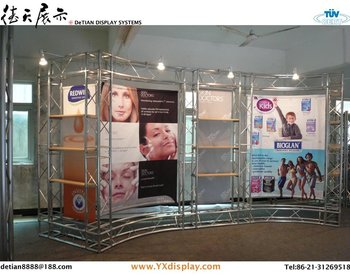 Shanghai design & produce custom aluminium trade show booth, display manufacturer 02