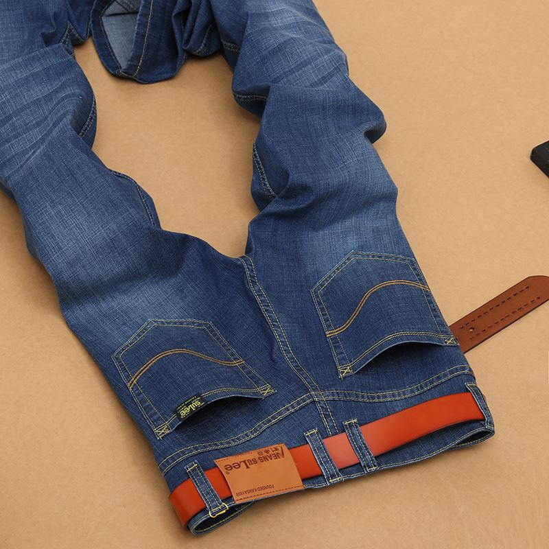 MOON BUNNY With Stretch Free shipping 2016 fashion mens Jeans Casual mens Regular 100%cotton Jeans men thin breathable Men Denim