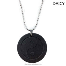 DAICY new fashion health black yinyang sun flower lava japanese quantum energy pendant