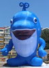Cute!!! Inflatable sea animal customized/inflatable dolphin/cartoon/animal/character/model/replica/blue/12M W615