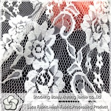 2015 white pretty floral embroidery bridal lace fabric for wedding dress