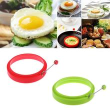 New Silicone Fried Egg Pancake Ring Omelette Fried Egg Round Shaper Eggs Mould for Cooking Breakfast Frying Pan Oven Kitchen